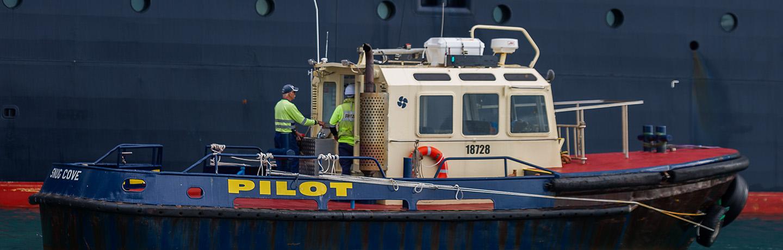 Pilot vessel at Port of Eden
