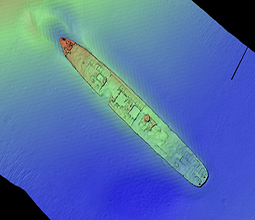 Survey image of TSS Currajong, Bradleys Head, Sydney
