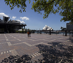 Southern Forecourt full showing Opera House view