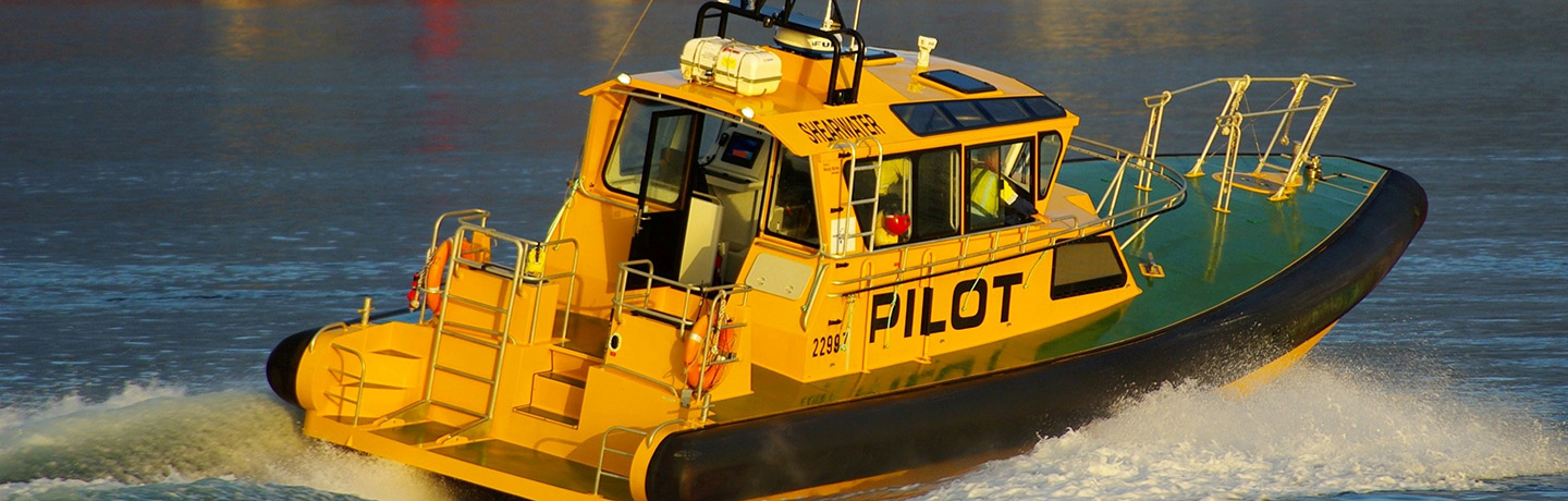 Pilotage vessel on the water at Port Kembla