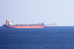 Vessels out to sea near Newcastle