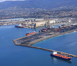 Aerial shot of Port Kembla