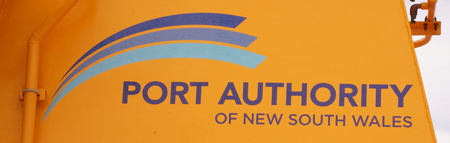 Port Authority logo on Port Authority vessel