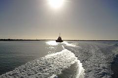 Vessel out at sea just left Port Kembla
