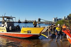 Port Authority emergency response vessel at Port Kembla