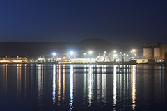 Port Kembla at night time