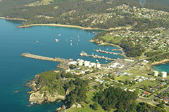 Aerial shot of Port of Eden
