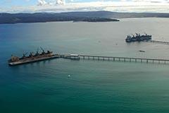Aerial shot of Port of Eden berths