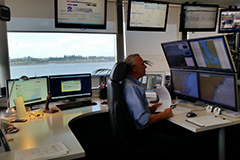 VTIC officer monitoring vessel movements