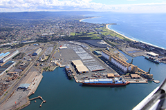 Aerial Inner Harbour Port Kembla