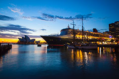Cruise ship at OPT with Sydney Opera House in view