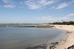 Foreshore beach at Port Botany
