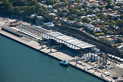 Aerial shot of White Bay Cruise Terminal