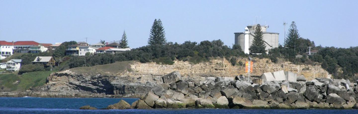 Port of Yamba with lighthouse in view