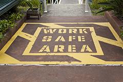 Work safe area signage