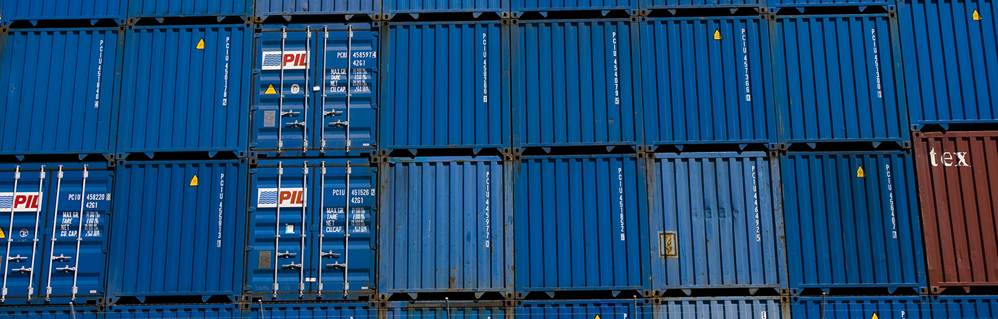 Stacked containers at Port Botany