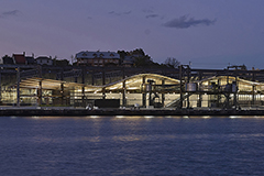 White Bay Cruise Terminal at night