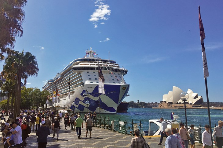 Majestic Princess Sails Into Sydney Harbour On Maiden Call Port Authority New South Wales